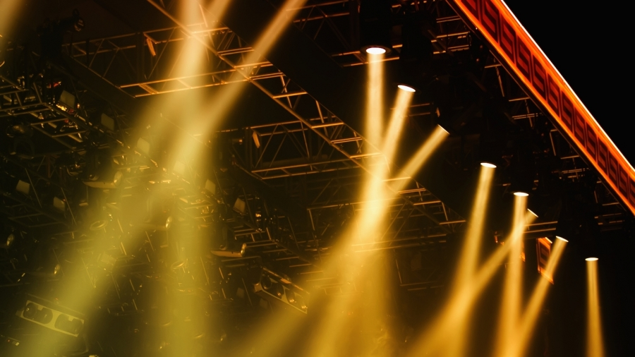 Colorful Stage lights at concert